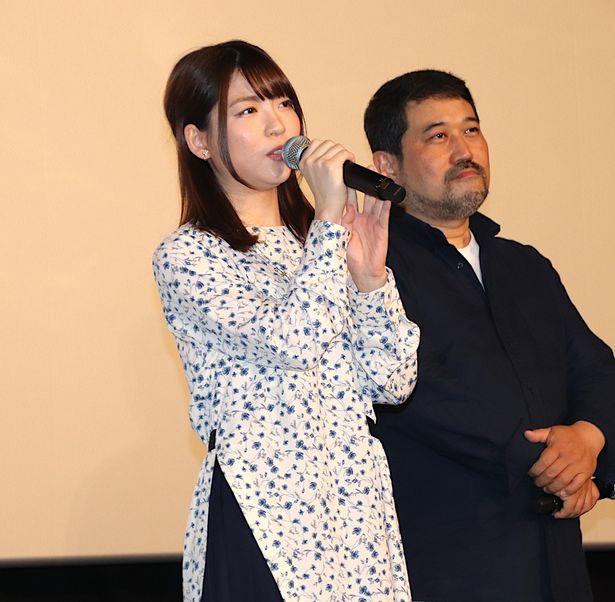 舞台挨拶に登壇した小澤亜李