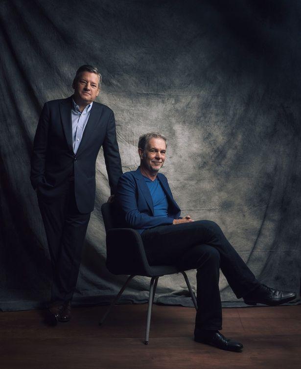 Netflixの創業者でCEOのリード・ヘイスティングスと、コンテンツ最高責任者(CCO)のテッド・サランドス