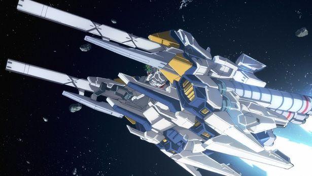 A装備と呼ばれる高機動用装備を装着したナラティブガンダム