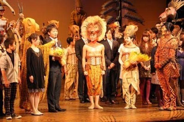 日本公演通算7000回を達成した、劇団四季「ライオンキング」の特別カーテンコール。なかなかなりやまない声援と拍手で会場は感動に包まれた