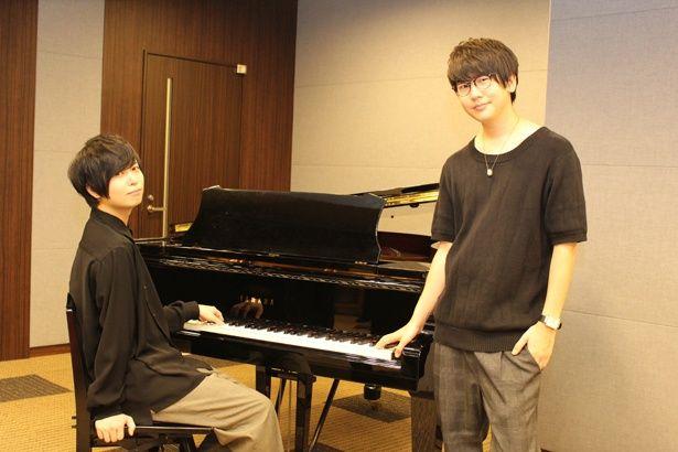 声優、斉藤壮馬(画像左)と花江夏樹(画像右)が「ピアノの森」の魅力を語る!
