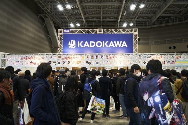 KADOKAWAの企業ブースも大盛況