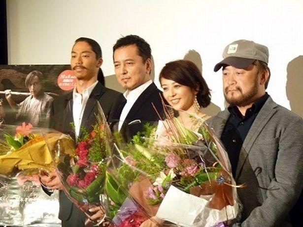 榎木孝明主演の時代劇『半次郎』初日舞台挨拶