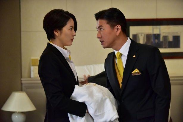 初共演となった木村拓哉と長澤まさみ(『マスカレード・ホテル』)