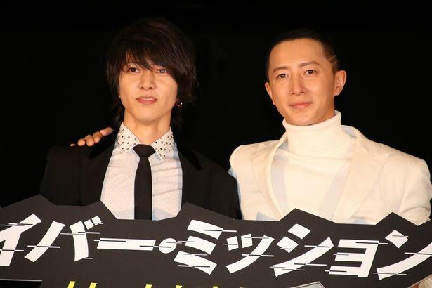 中国映画『サイバー・ミッション』で共演したハンギョンと山下智久