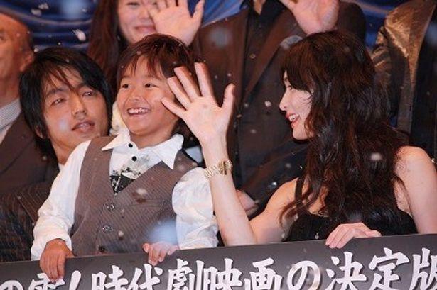 『桜田門外ノ変』で親子を演じた大沢たかお、長谷川京子、加藤清史郎