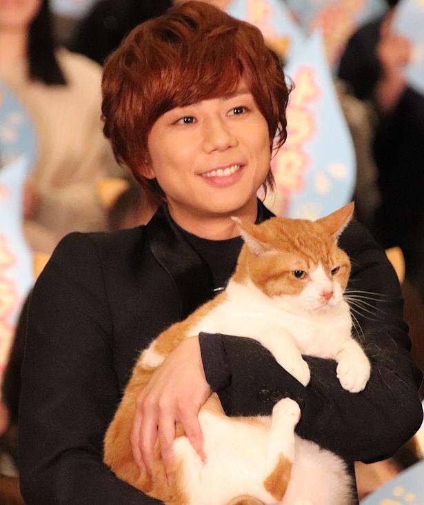 キスマイ北山宏光、猫の金時を抱っこ!