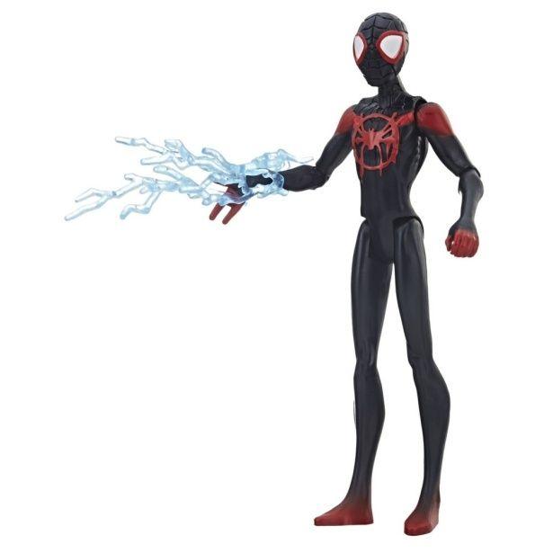 黒のコスチュームがクールなマイルス版(『スパイダーマン:スパイダーバース』【ハズブロ アクションフィギュア】6インチ「ベーシック」ウェーブ1 スパイダーマン(マイルス・モラレス)
