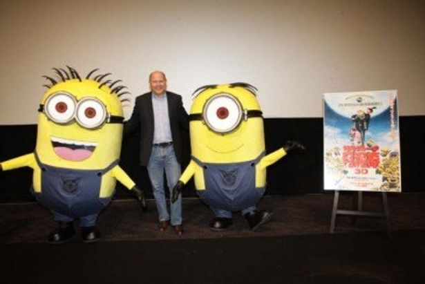 東京国際映画祭にて『怪盗グルーの月泥棒 3D』の舞台挨拶を行ったプロデューサーのクリス・メレダンドリ