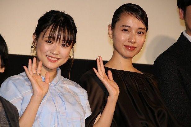 『あの日のオルガン』の公開記念舞台挨拶に登壇した戸田恵梨香と大原櫻子