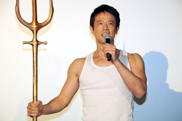 アクアマンのようにたくましい筋肉を誇る庄司智春
