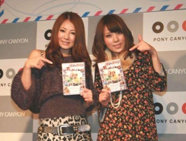 DVD発売記念イベントを行った初音みのりと桜木凛(写真左から)