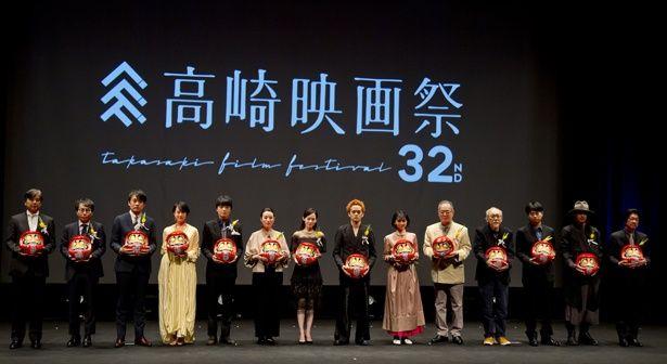 高崎映画祭授賞式には名物だるまも登場!