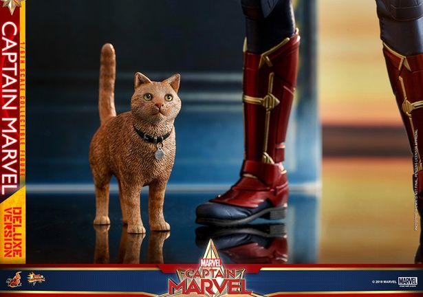 猫のグースまで付いてくるこだわりよう。かわいすぎ!(【ムービー・マスターピース】『キャプテン・マーベル』1/6スケールフィギュア キャプテン・マーベル)