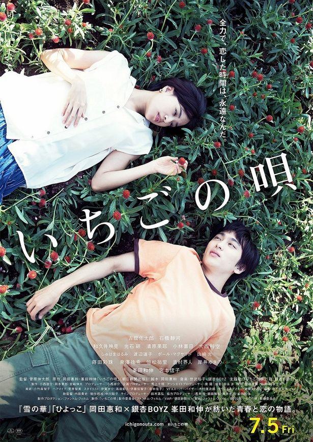 「ひよっこ」脚本家の岡田惠和と、銀杏BOYZの峯田和伸が紡ぎ出す青春ラブストーリー『いちごの唄』の予告編とポスターが到着