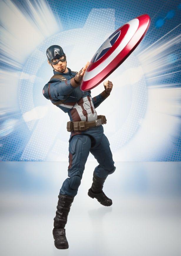 トレードマークの盾も付属!(「S.H.Figuarts キャプテン・アメリカ(アベンジャーズ/エンドゲーム)」)
