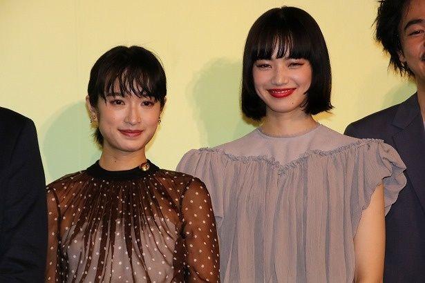 『さよならくちびる』で初共演した小松菜奈と門脇麦