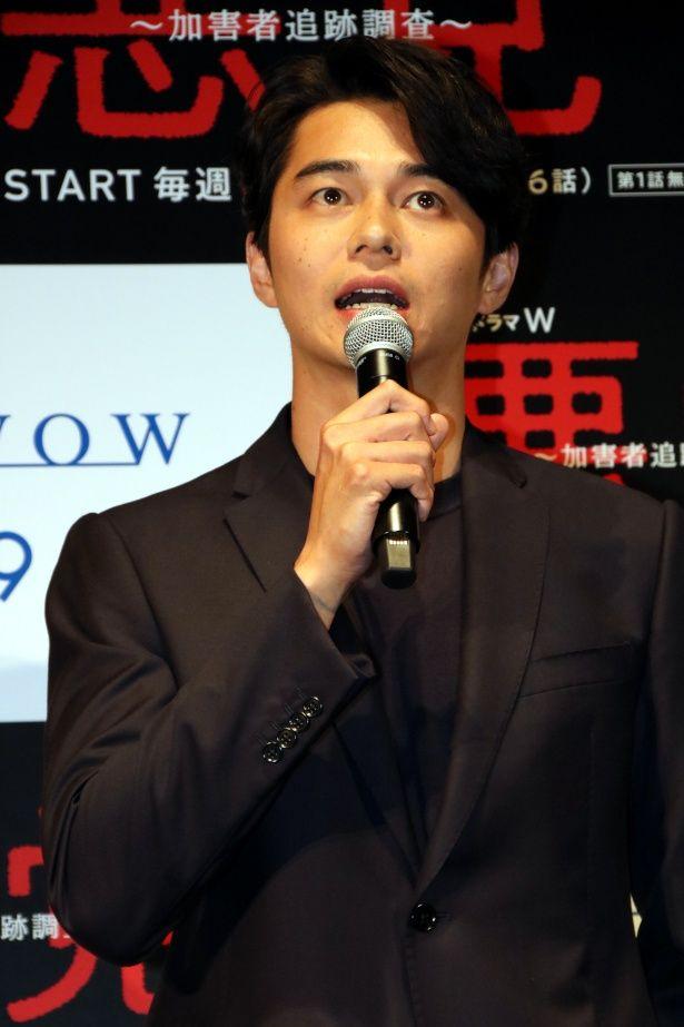 「連続ドラマ W 悪党~加害者追跡調査~」で連続ドラマ初主演を務めた東出昌大