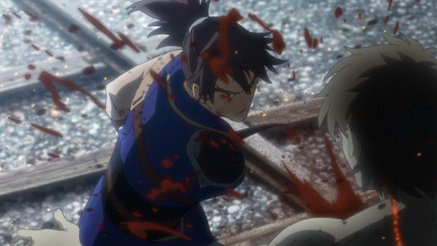菖蒲に忠実な武士の来栖は特殊な刀を用いてカバネを斬り倒す