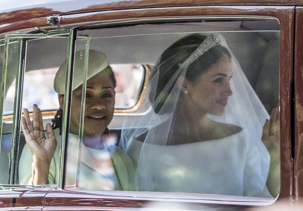 昨年の結婚式でのメーガン妃と母ドリア