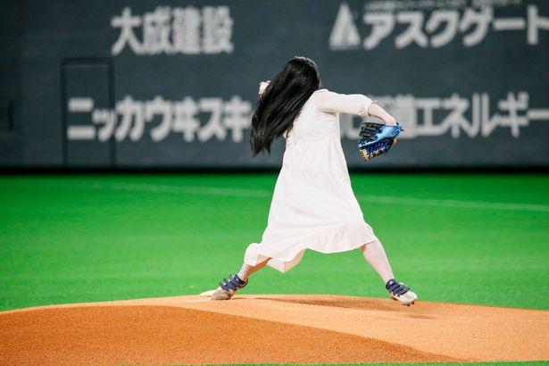 貞子が札幌ドームに降臨!