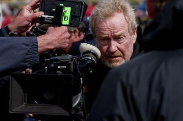 ウェールズの海岸での撮影がとても不安だったというリドリー監督