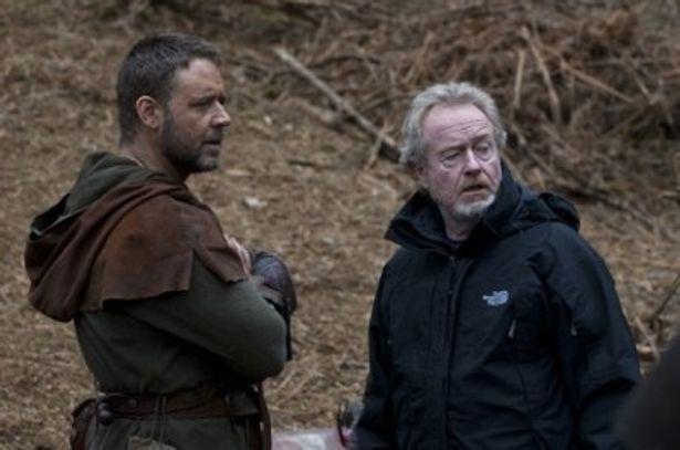 リドリー監督いわく「緊張があるのが私とラッセルとのやり方」だそう