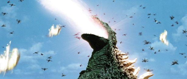 ゴジラの周りを飛び回るメガニューラ。翼長5m、体重1t