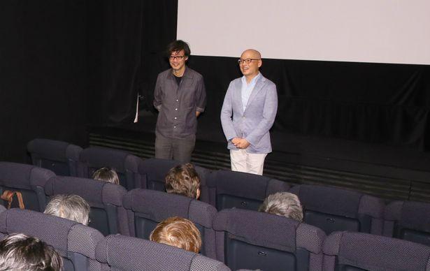 上映前に挨拶をおこなった山崎貴監督と原作者の三田紀房