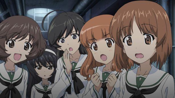 大洗女子学園戦車道チーム、あんこうチームの5人(『ガールズ&パンツァー 最終章 第1話』)