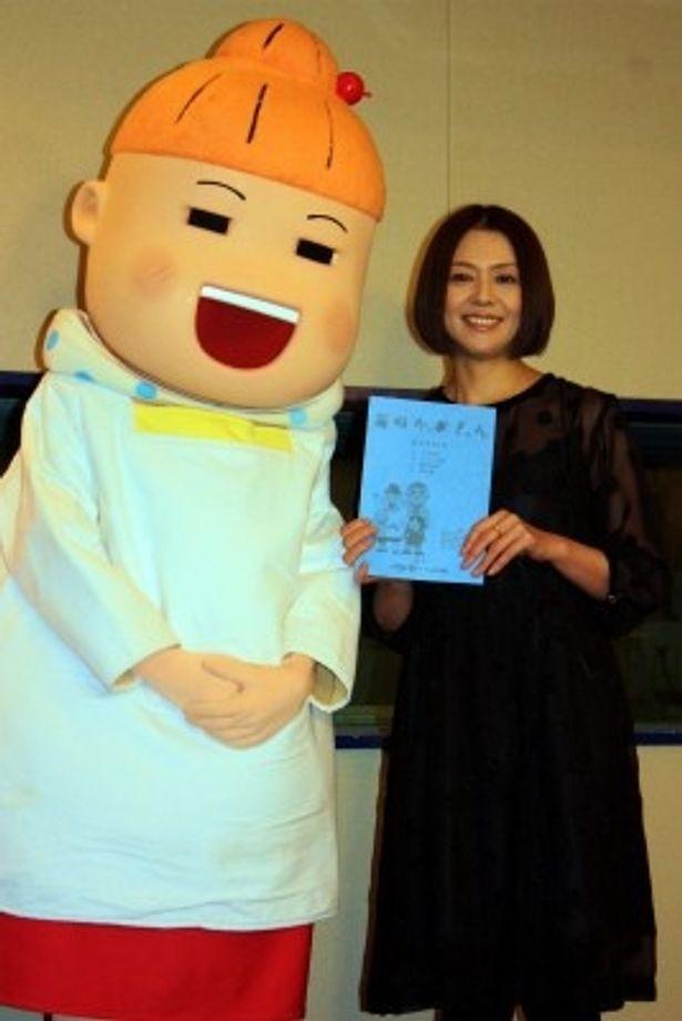 アニメ版「毎日かあさん」で本人役の声優を務めた小泉今日子