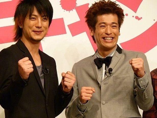 『漫才ギャング』でお笑いコンビを組む上地雄輔と佐藤隆太