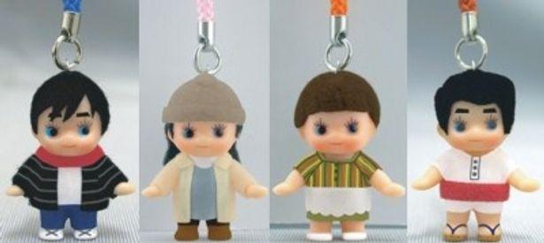 『ワラライフ!!』コスチュームキューピー全4種。写真左のキューピーは古川修一役のしずる・村上純のもの