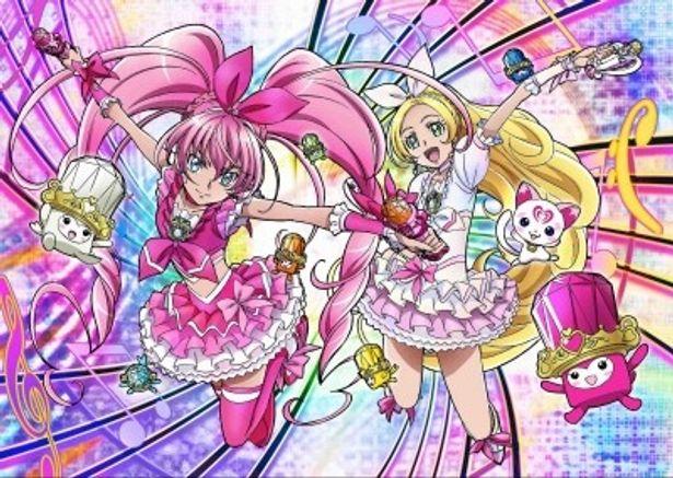 キュアメロディ キュアリズム、歌の妖精ハミィ(写真左から)