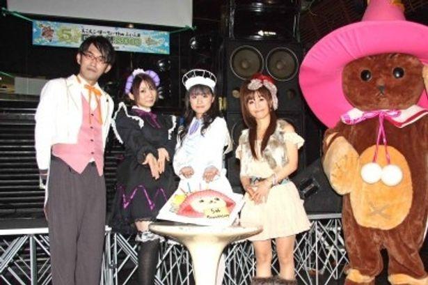 イベントに参加した竹内幸輔、原田ひとみ、安部美央、米倉千尋(写真左から)
