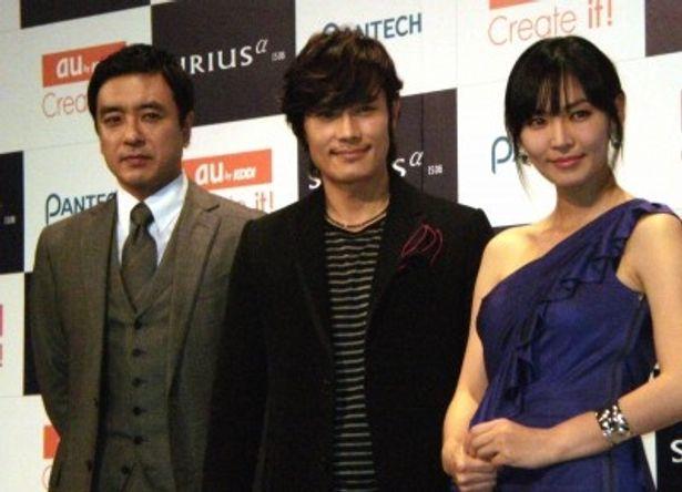キム・スンウ、イ・ビョンホン、キム・ソヨン(左側から)