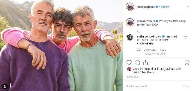 ダンディな3兄弟だが新婚のジョーが一番やつれ気味?