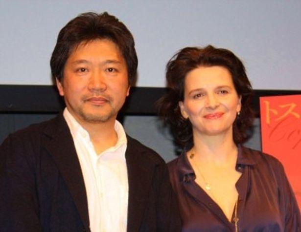 是枝裕和監督とジュリエット・ビノシュがトークショーを開催