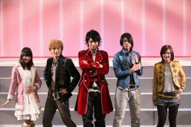 会見に出席した小池唯、清水一希、小澤亮太、山田裕貴、市道真央(写真左から)
