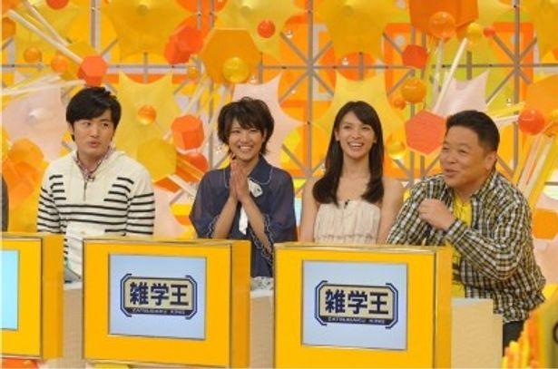 番組に出演する劇団ひとり、AKB48・宮澤佐江、秋元才加、伊集院光(写真左から)