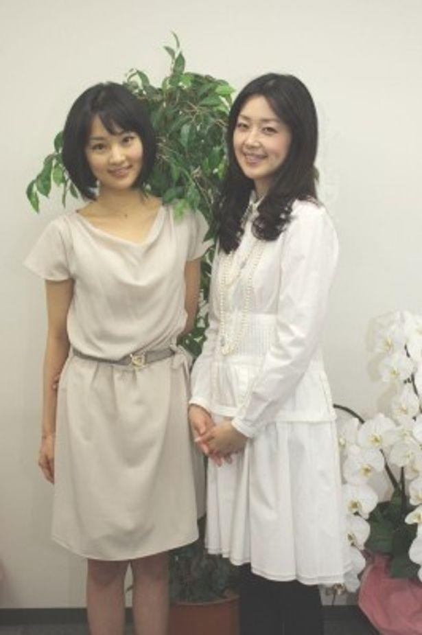 昼ドラマ「さくら心中」の新キャスト・さくらを演じる林丹丹とその母・桜子を演じる笛木優子にインタビュー(写真左から)