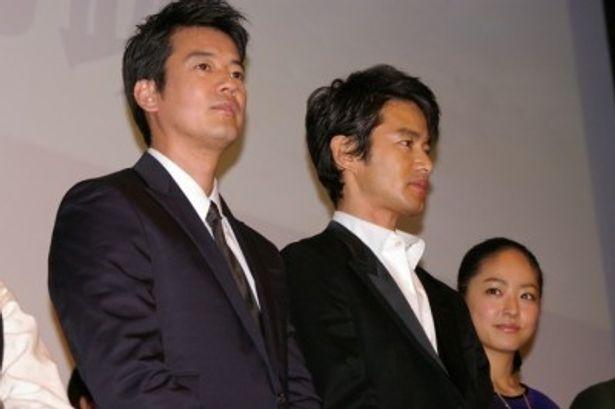 唐沢寿明(写真左)は竹野内 豊(写真右)を「さわやかでしょ!」と絶賛