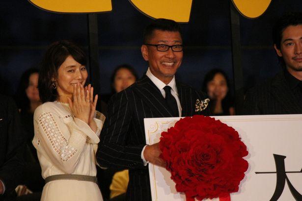 中井貴一、石田ゆり子らが登場した『記憶にございません!』の初日舞台挨拶