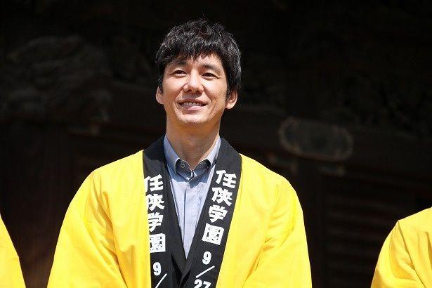 『任侠学園』ヒット祈願イベントに登壇した西島秀俊
