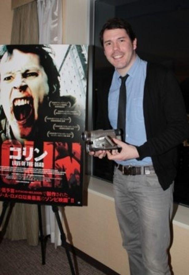 【写真】好きな日本の映画は故・深作欣二監督の『バトル・ロワイアル』(00)だと教えてくれたマーク監督
