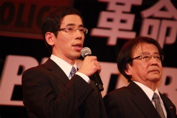 公安部巡査部長・田中一郎役の野間口徹