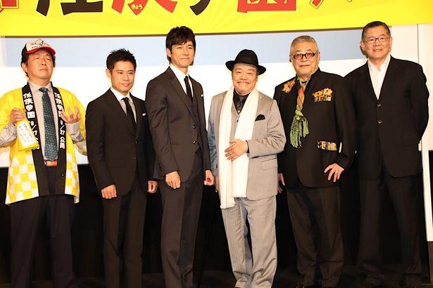 【写真を見る】西島秀俊の飲み会の様子が明らかに!『任侠学園』初日舞台挨拶の様子