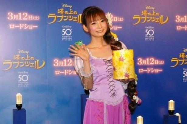 『塔の上のラプンツェル』ジャパンプレミア レッドカーペットイベントに登場した中川翔子