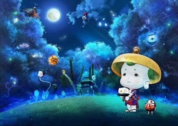 お盆に乗せた豆腐を持つことだけがとりえの気弱な妖怪、豆富小僧の冒険と成長の物語