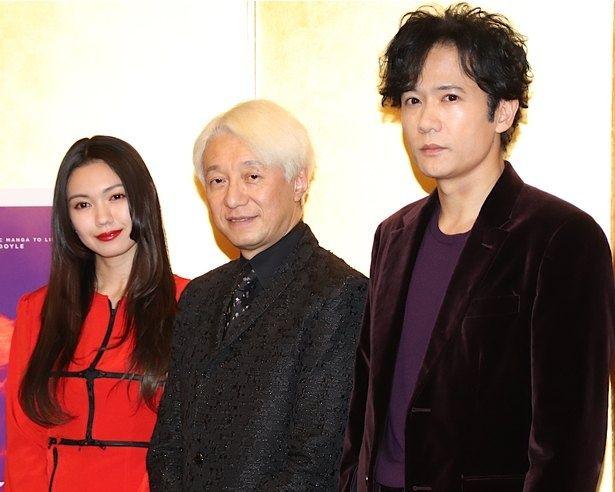 「手塚治虫生誕90周年記念会」での『ばるぼら』製作発表会見での様子